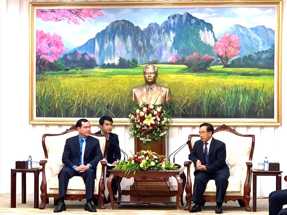 Chủ tịch Tổng LĐLĐVN Nguyễn Đình Khang tiếp kiến