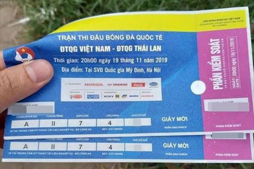 Phát hiện gần 1.000 vé giả trận Việt Nam vs Thái Lan. Ảnh minh họa