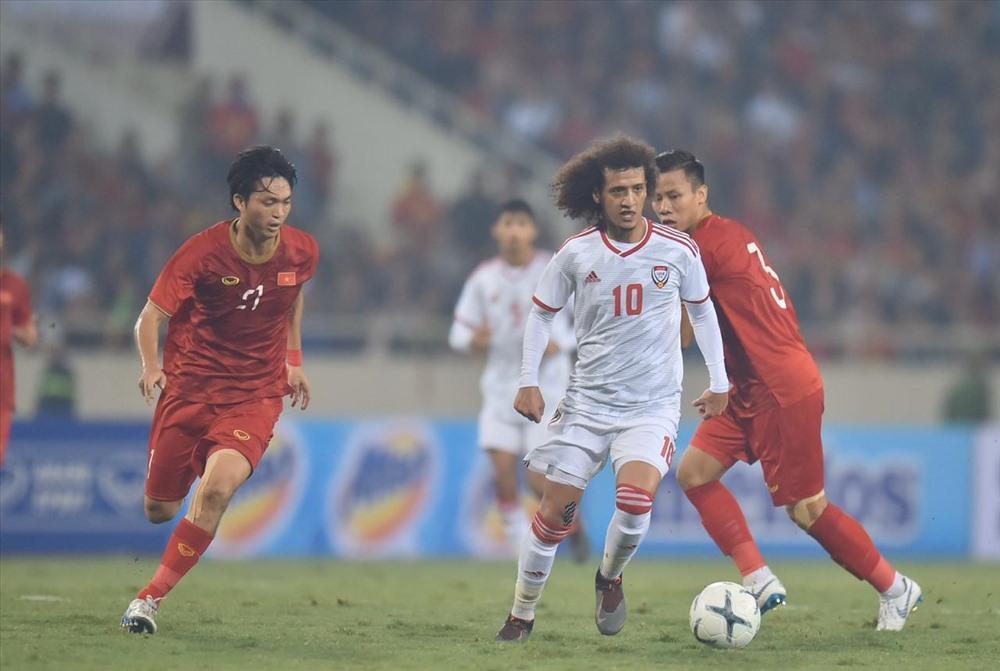 Tuấn Anh với màn trình diễn điểm 10 trước UAE tiếp tục là lựa chọn nơi tuyến giữa của đội tuyển Việt Nam. Ảnh: UAEFA