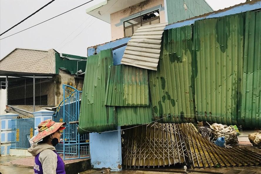 Quảng Ngãi thiệt hại nặng nề do bão số 5. Ảnh: Thanh Chung