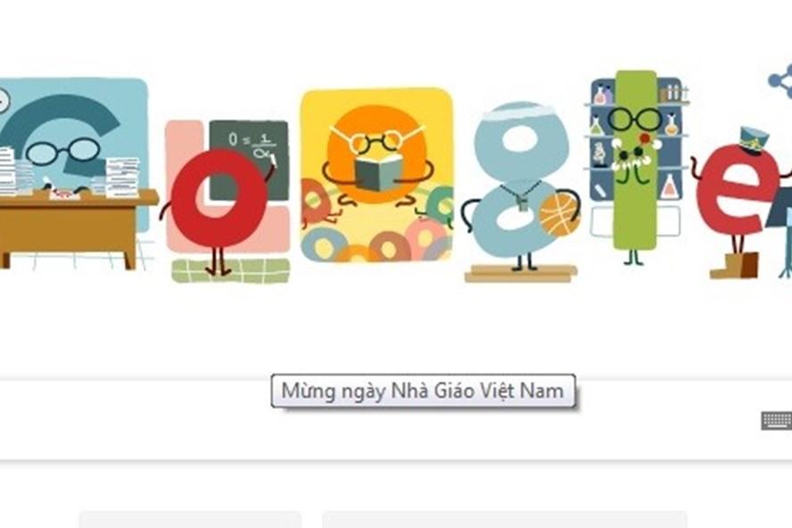 Goodle Doodle tôn vinh Ngày nhà giáo Việt Nam.