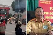 Trung tá CSGT liều mình lao vào đám cháy cứu tài xế Grab mắc kẹt