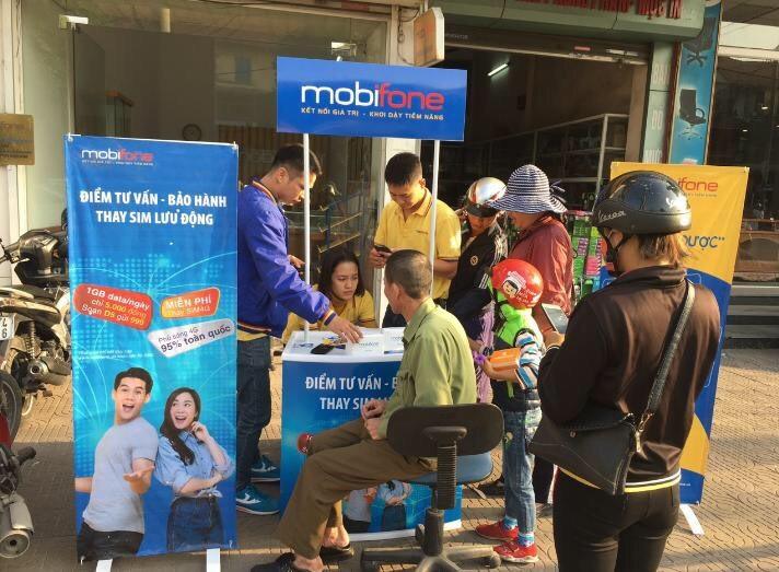 Một điểm tư vấn – bán hàng và thay sim 4G miễn phí tại Cẩm Phả, Quảng Ninh.