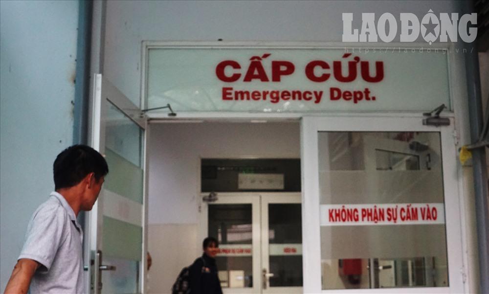 Khoa cấp cứu bệnh viện Nhi Đồng 2 TPHCM. Ảnh: HP.