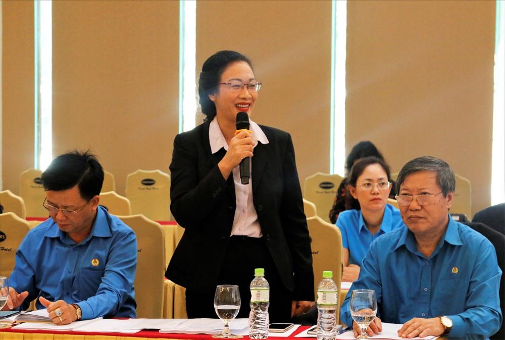 Bà Phạm Thanh Bình - Chủ tịch Công đoàn Ngành Y tế Việt Nam. Ảnh: Hữu Long