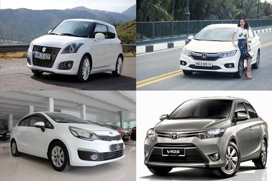 Các mẫu xe hạng B đời 2016-2017 còn khá mới có giá khoảng 400 triệu đồng. Ảnh BD.
