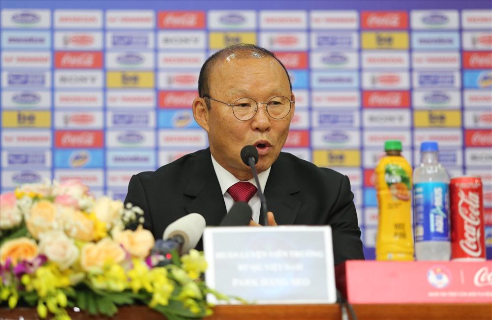 Mức lương của huấn luyện viên Park Hang-seo không được công bố chính thức. Ảnh: Hải Đăng