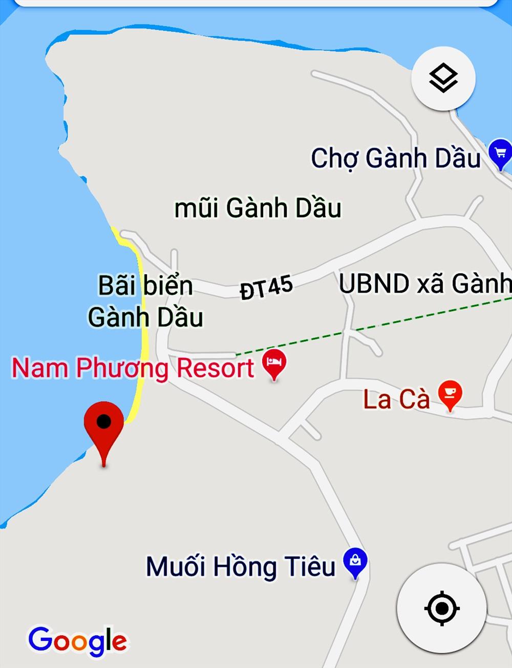 V trí ta lc ca Resort Nam Phng. nh: TM