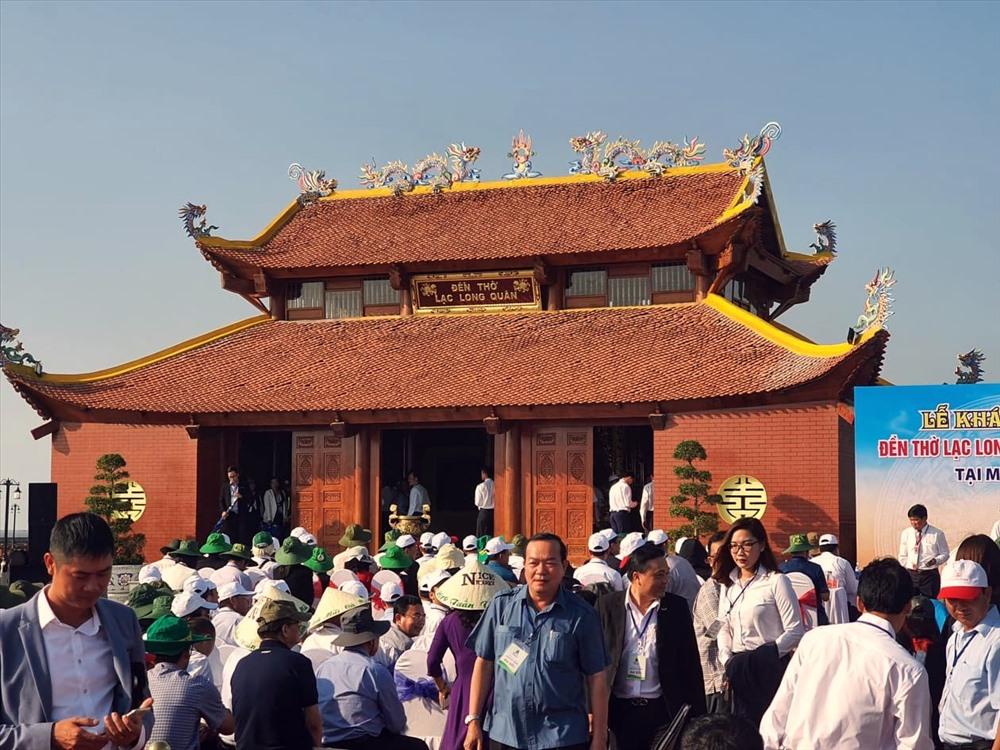 Chiều 10.12 Cà Mau cũng khánh thành Đền thờ Vua Hùng và Tượng Mẹ tại Mũi Cà Mau (ảnh Nhật Hồ)