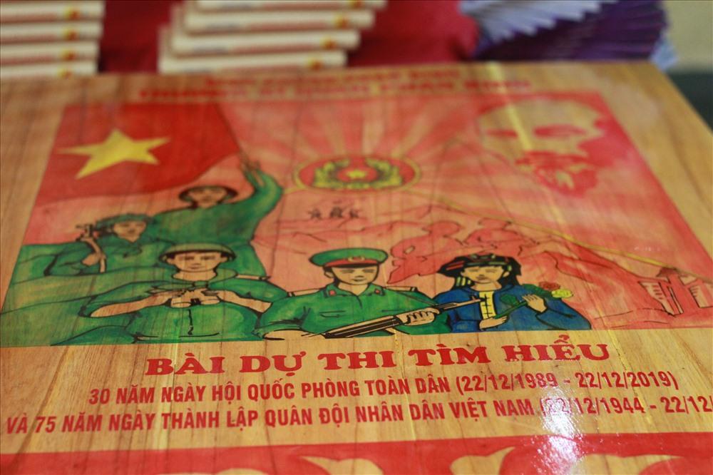Trong đó Bài dự thi tìm hiểu 30 năm ngày hội Quốc phòng toàn dân và 75 năm ngày thành lập Quân đội Nhân dân Việt Nam của nhóm tác giả Trường Sĩ quan pháo binh - Binh chủng Pháo binh thu hút được sự chú ý của nhiều người bởi cách trình bày ấn tượng.