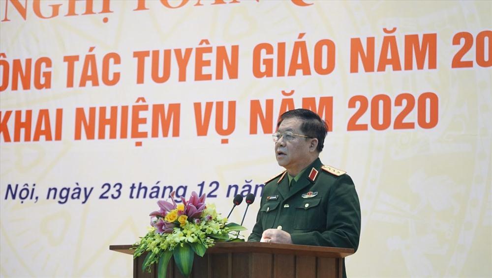 Thượng tướng Nguyễn Trọng Nghĩa - Phó Chủ nhiệm Tổng Cục chính trị Quân đội Nhân dân Việt Nam. Ảnh PV