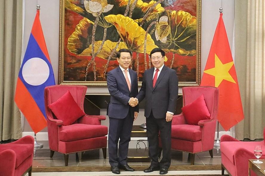 Tham vấn cấp Bộ trưởng Ngoại giao và Giao lưu hai Bộ Ngoại giao Việt Nam – Lào thường niên lần thứ 6 diễn ra tại Quảng Ninh ngày 25.12. Ảnh: BNG