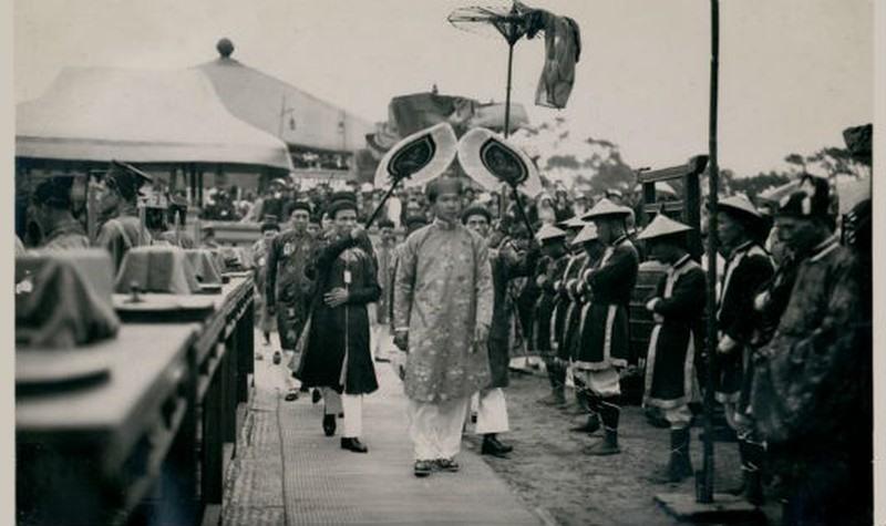 Lễ tế Nam Giao năm 1933 do vua Bảo Đại làm chủ tế, diễn ra trong hai ngày 15 - 16/3/1933. Ảnh: Tư liệu