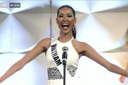 Hoàng Thuỳ tự tin hô vang Việt Nam tại bán kết Miss Universe 2019