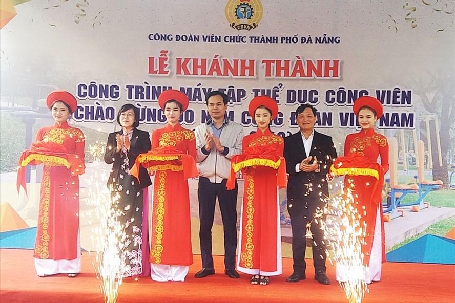CĐ Viên chức TP Đà Nẵng cắt băng khánh thành, đưa công trình vào sử dụng.