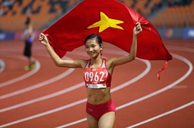 Cập nhật huy chương ngày thi đấu 9.12: Thúy Vi giành Huy chương Vàng aerobic