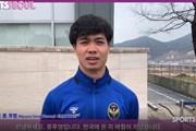 """Công Phượng """"bắn"""" tiếng Hàn Quốc trong buổi tập của Incheon United"""