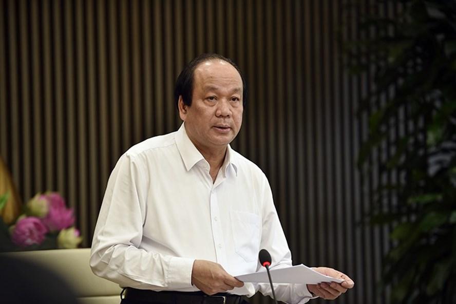 Bộ trưởng, Chủ nhiệm VPCP Mai Tiến Dũng phát biểu tại cuộc làm việc. Ảnh: VGP/Nhật Bắc