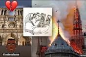 Cháy nhà thờ Đức Bà Paris: Loạt sao bóng đá lên tiếng tiếc thương