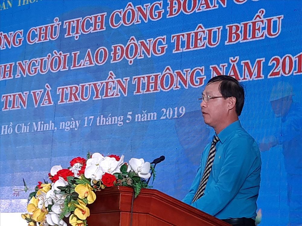 Đồng chí Chu Văn Bình phát biểu tại hội nghị. Ảnh Nam Dương
