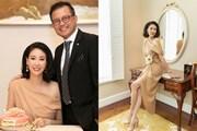 Hoa hậu Hà Kiều Anh lần đầu công khai xuất hiện bên chồng đại gia