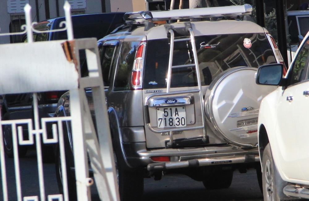 Chiếc ô tô liên quan đến vụ án đang bị tạm giữ.
