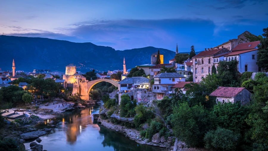 Hercegovina, Bosnia and Hercegovina: Also on the list is Hercegovina, in Bosnia and Hercegovina. Highlights include the city of Mostar, pictured here. Shutterstock