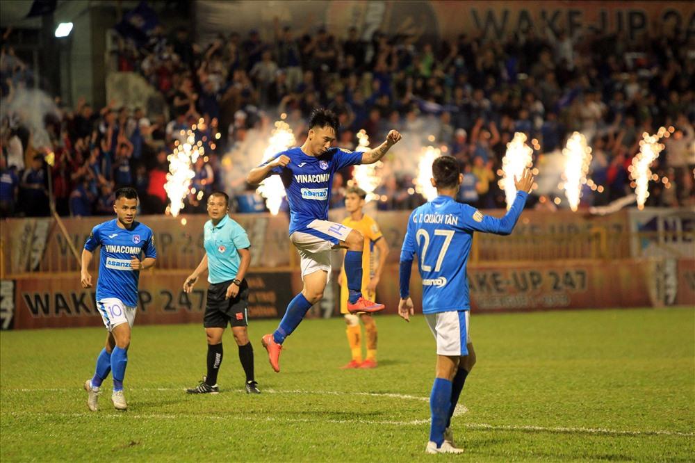 Hải Huy tiếp tục lập công trong chiến thắng của Than Quảng Ninh ở mùa giải năm nay.