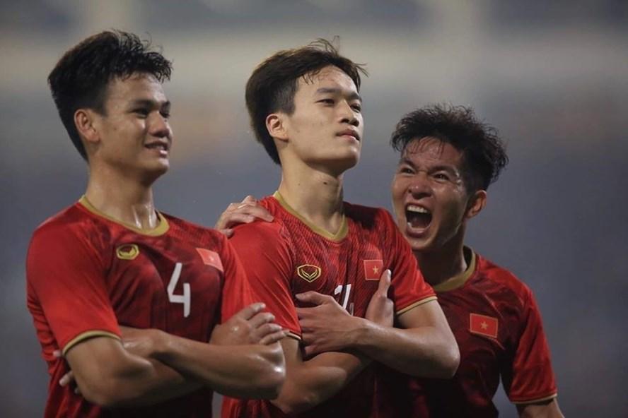Hoàng Đức gây ấn tượng trong màu áo U23 Việt Nam. Ảnh: Sơn Tùng