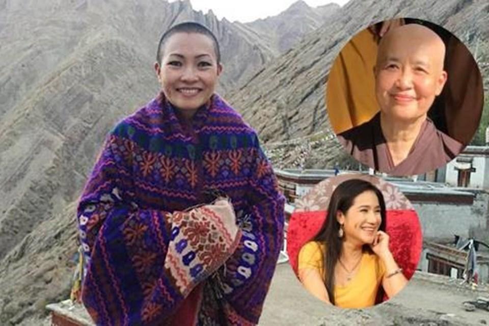 Phương Thanh chúc mừng chuyên gia ẩm thực Nguyễn Dzoãn Cẩm Vân xuất gia