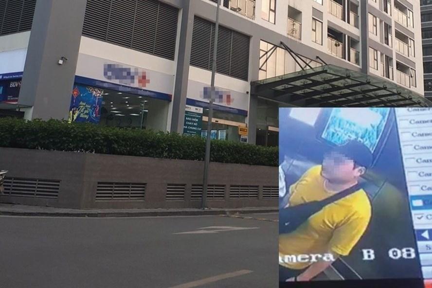 Đối tượng người Hàn Quốc bị tố sàm sỡ (ảnh cắt trong clip) và chung cư xảy ra sự việc.