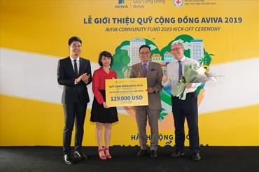 Aviva Việt Nam, Hội Chữ Thập Đỏ cùng Đại sứ chương trình trong lễ giới thiệu Qũy Cộng Đồng Aviva.