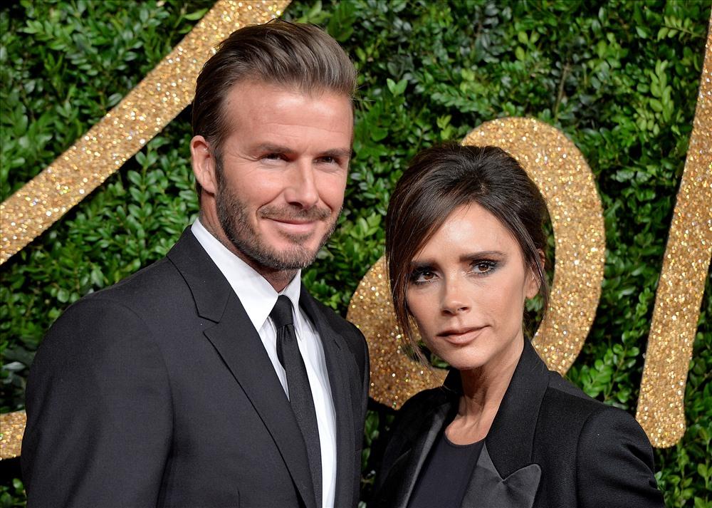 Vợ chồng nhà Beckham. Ảnh: TIME.