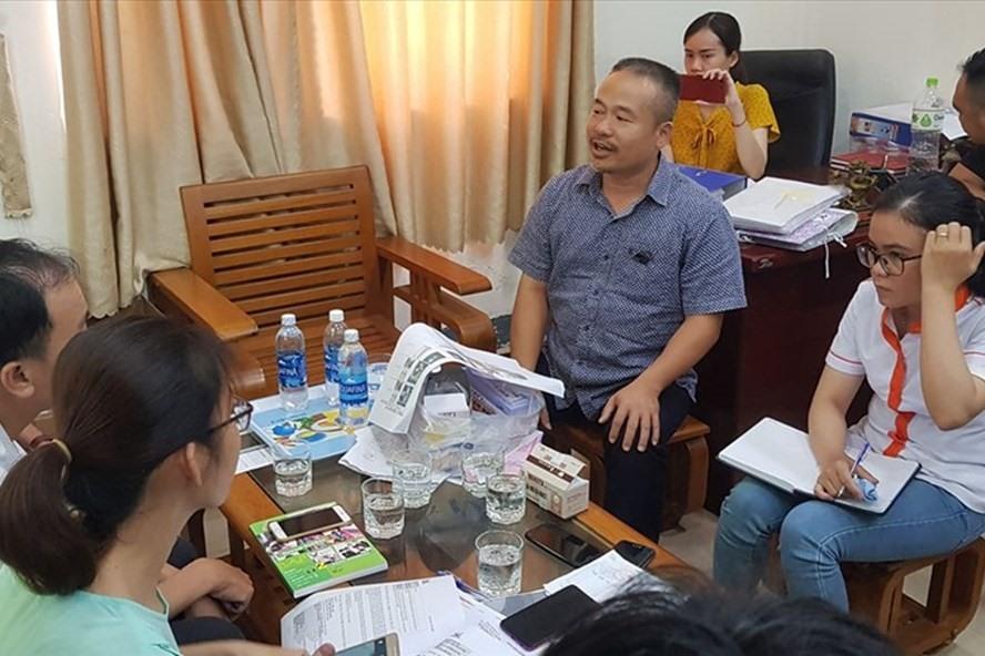 Đại diện Cty An Thạnh tại buổi làm việc với BQL ATTP TP Đà Nẵng. ảnh: TT