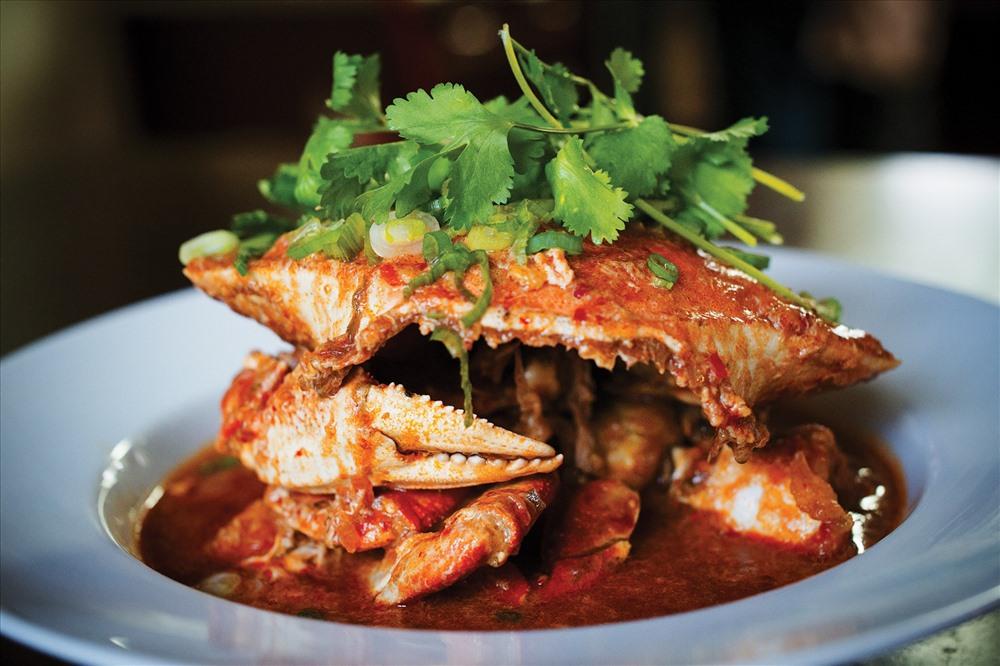 Chili Crab – Cua sốt ớt không thể bỏ qua khi đến Singapore. Ảnh: T. L.