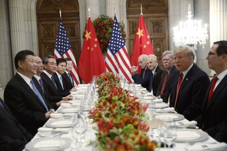 Lãnh đạo Mỹ - Trung gặp mặt bên lề thượng đỉnh G-20 ở Buenos Aires, Argentina. Ảnh: AP.