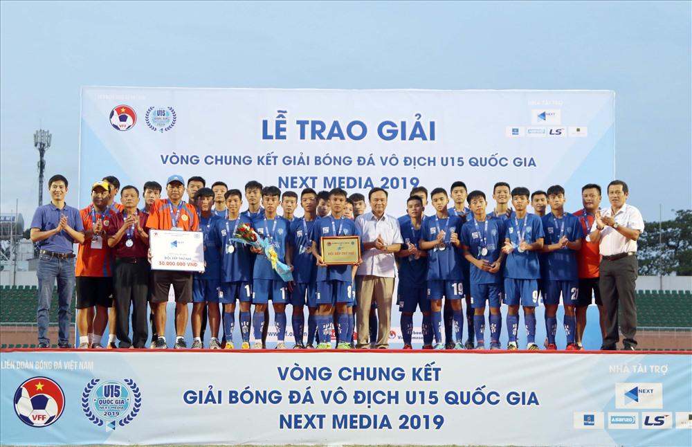 U15 Thanh Hóa giành hạng nhì chung cuộc. Ảnh: Hữu Phạm