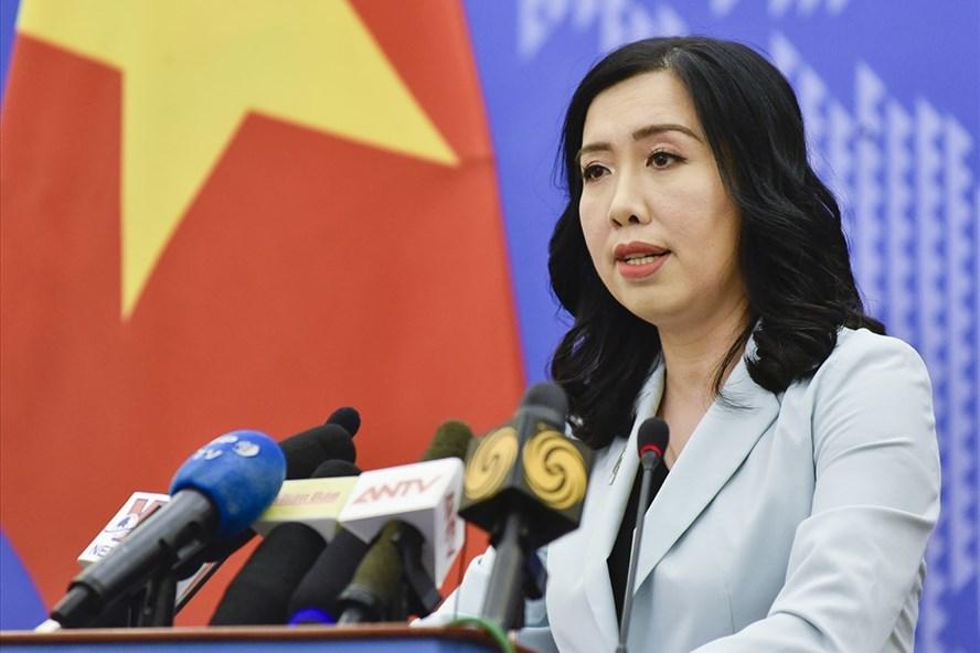 Người phát ngôn Lê Thị Thu Hằng. Ảnh: Hồng Nguyễn.