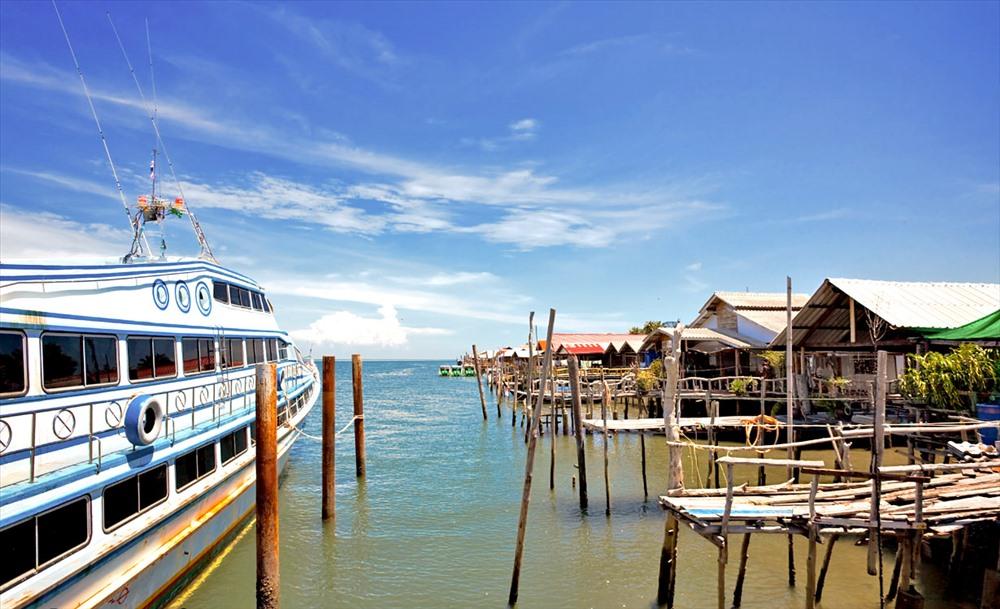 Ngôi làng bán nổi Lanta Old Town nổi tiếng trên đảo Koh Lanta.