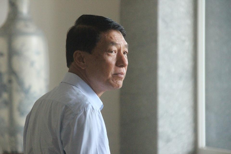Ông Trần Việt Tân tại tòa.