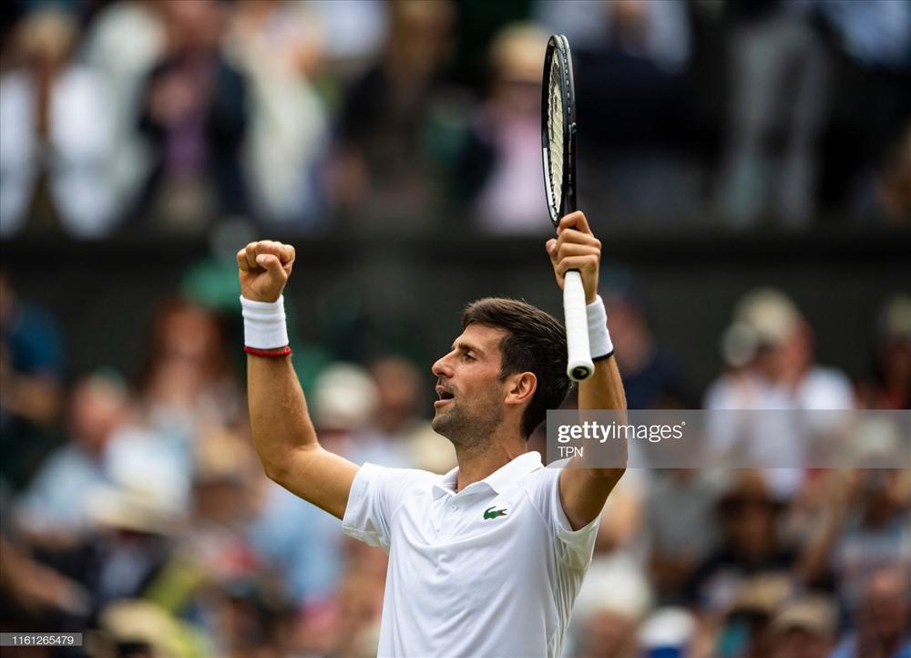 Djokovic dễ dàng hạ gục Goffin. Ảnh: Getty.