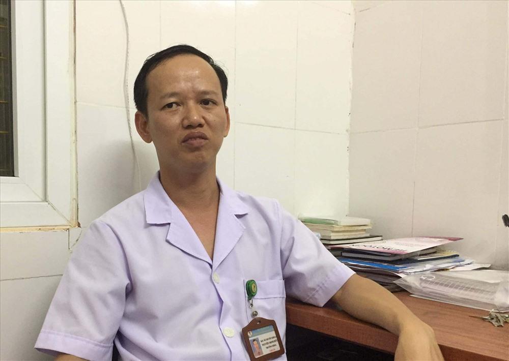 Bác sĩ Phạm Hồng Cường, Phó giám đốc Bệnh viện Đa khoa huyện Đức Thọ. Ảnh: A.Đ