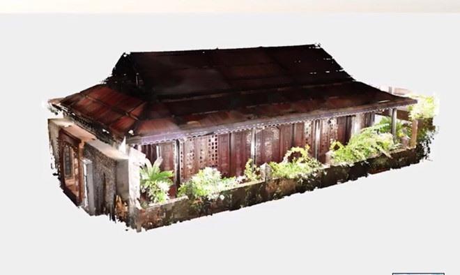Mô hình 3D công ngôi nhà cổ 143 tuổi sau khi xử lý từ dự liệu quét Laser Scan 3D Faro Focus S350A Portcoast