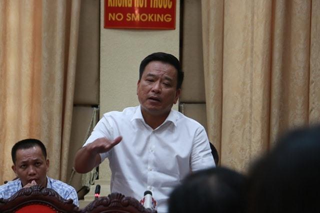 Ông Võ Tiến Hùng, Chủ tịch kiêm Tổng Giám đốc Công ty TNHH Thoát nước Hà Nội. Ảnh: Nguyễn Hà
