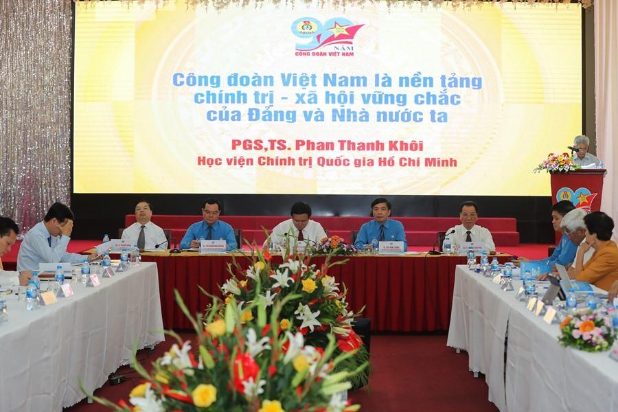 """Hội thảo khoa học cấp quốc gia """"Công đoàn Việt Nam - 90 năm xây dựng và phát triển"""".Ảnh: SƠN TÙNG"""