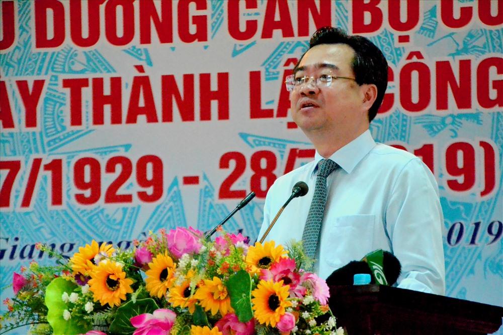 Bí thư Tỉnh ủy Nguyễn Thanh Nghị phát biểu. Ảnh: Lục Tùng