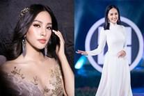 Hoa hậu Tiểu Vy diện đầm ôm sát diễn thời trang cùng Mai Phương Thuý