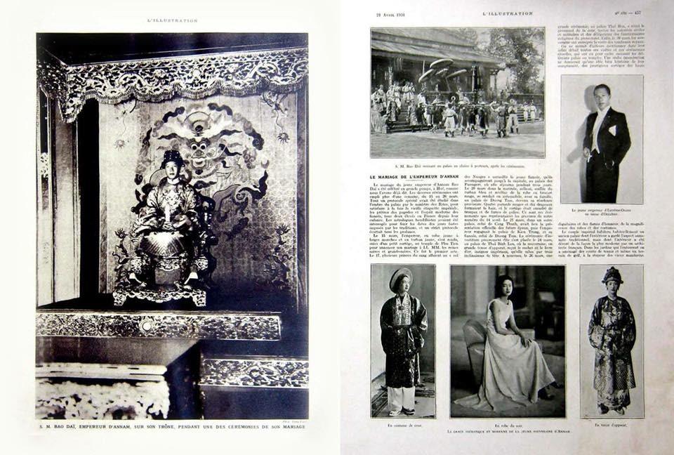 Tin tứ về đám cưới vua Bảo Đại và Nam Phương Hoàng hậu trên các báo và tạp chí bằng tiếng Pháp thời điểm đó