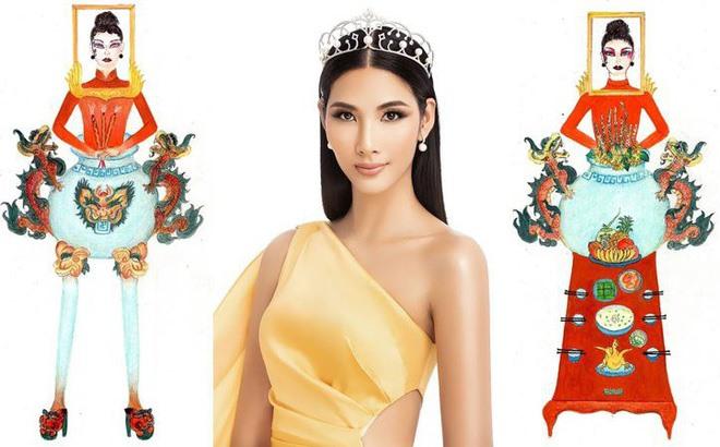Trang phục dân tộc của Hoàng Thùy tại Miss Universe 2019. Ảnh: ST