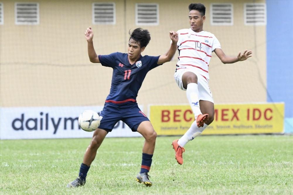 U18 Thái Lan đứng trước nguy cơ dừng chân ngay vòng bảng giải U18 Đông Nam Á 2019. Ảnh: Siam Sport